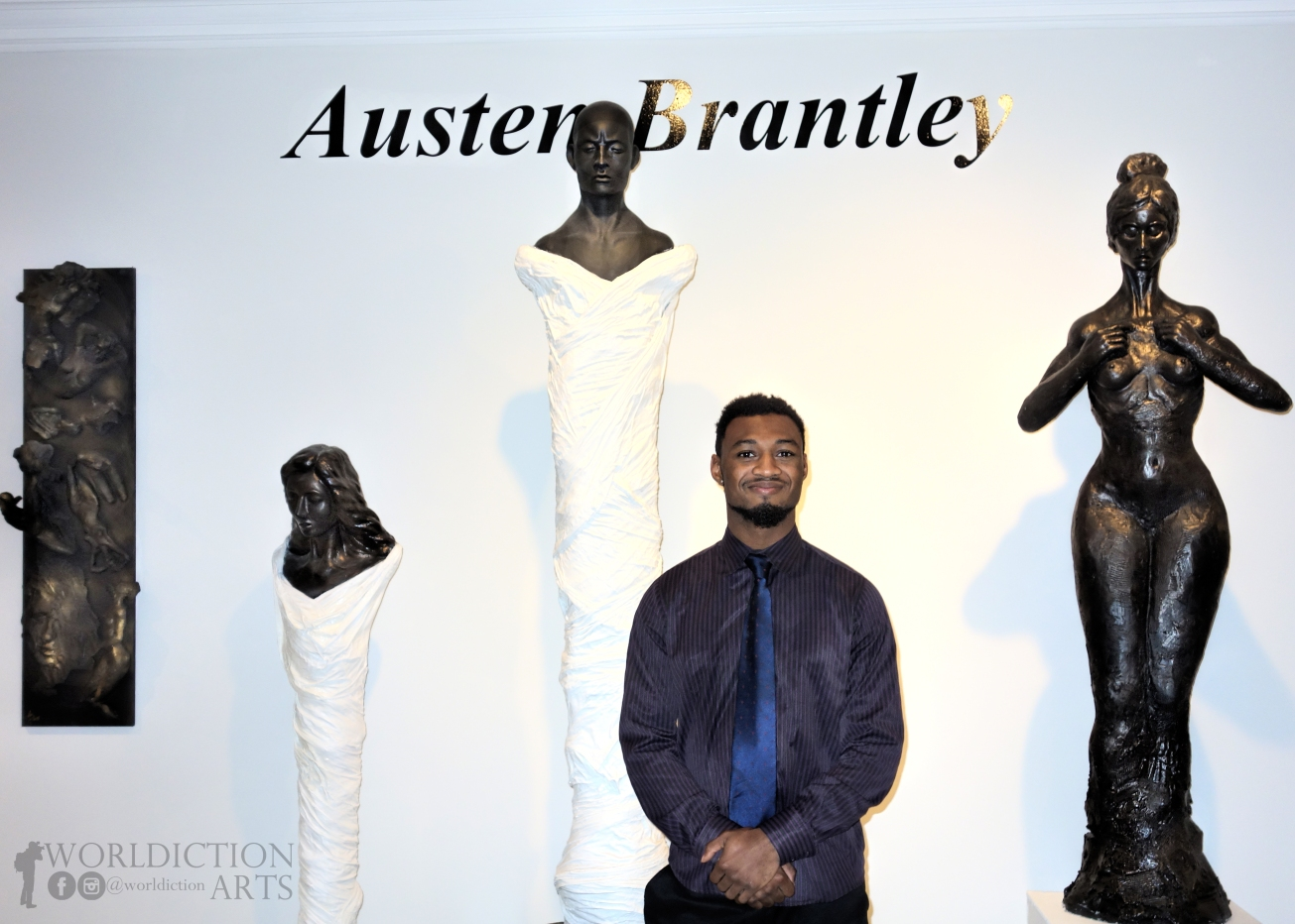 Austen Brantley in his Royal Oak gallery